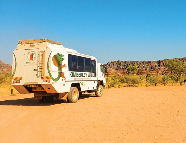 Kimberley Wild vehicle in the Purnululu National Park