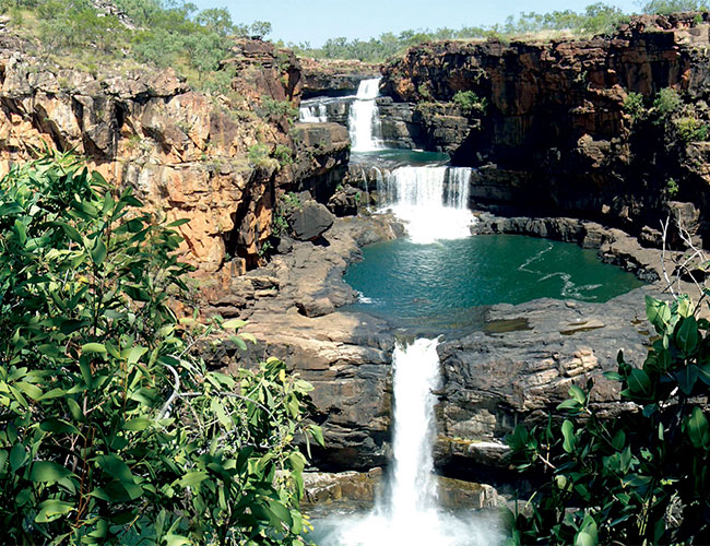 The Mitchell Falls are among the most photographed attractions of the Kimberley