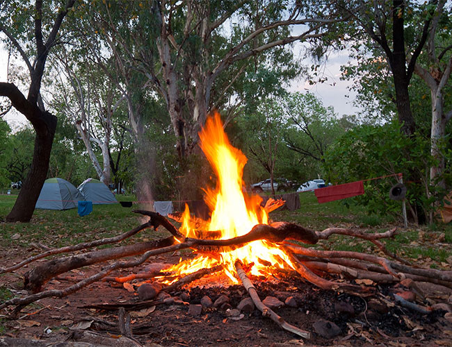 Camp fire at one of the Kimberley Camps