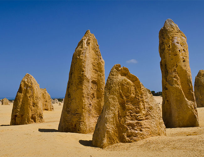 The Pinnacles, limestone formations Nambung National Park